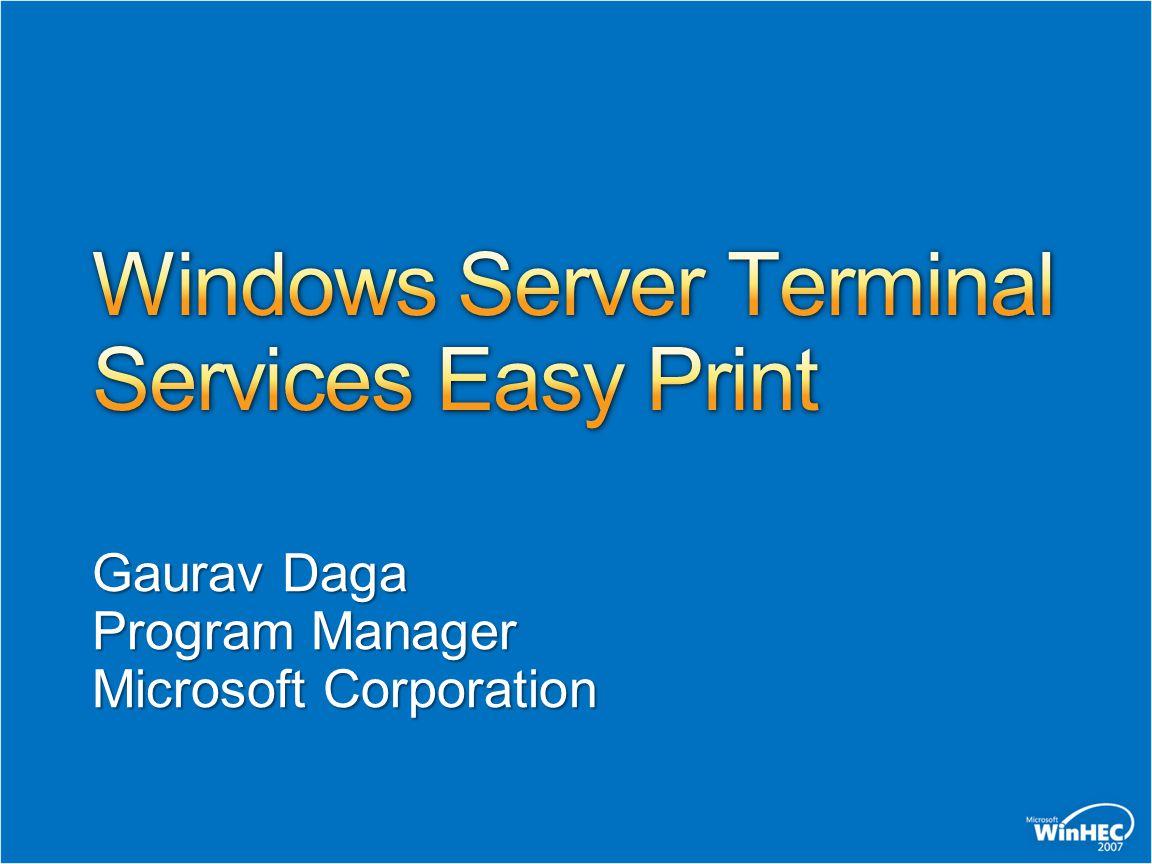 Windows Server Terminal Services Easy Print