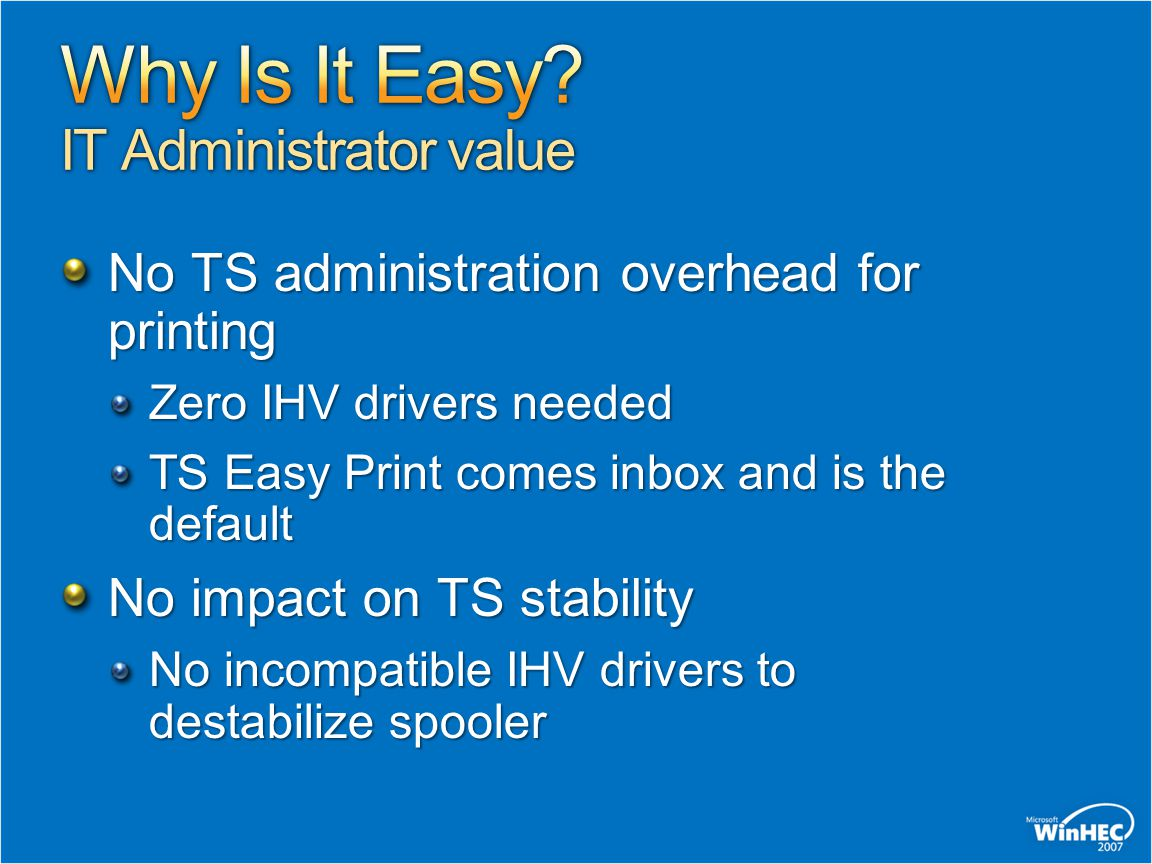 Why Is It Easy IT Administrator value
