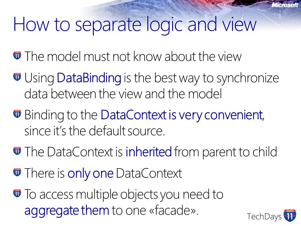 How to separate logic and view