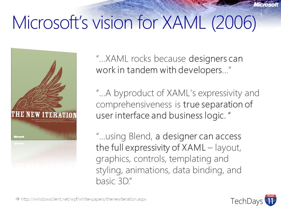 Microsoft's vision for XAML (2006)