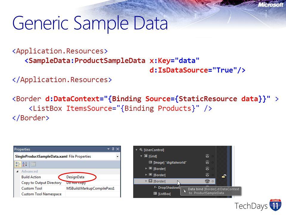 Generic Sample Data
