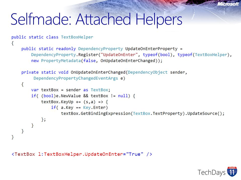 Selfmade: Attached Helpers