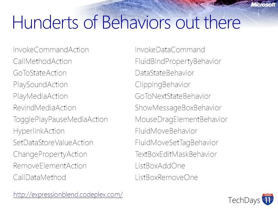 Hunderts of Behaviors out there
