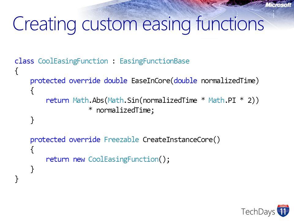Creating custom easing functions
