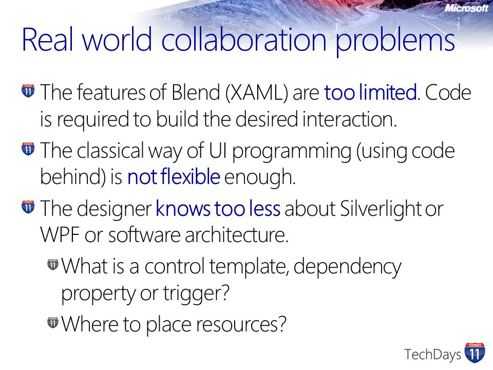 Real world collaboration problems