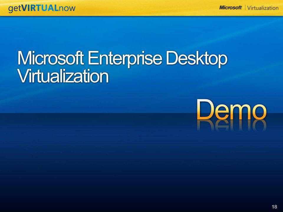 Microsoft Enterprise Desktop Virtualization