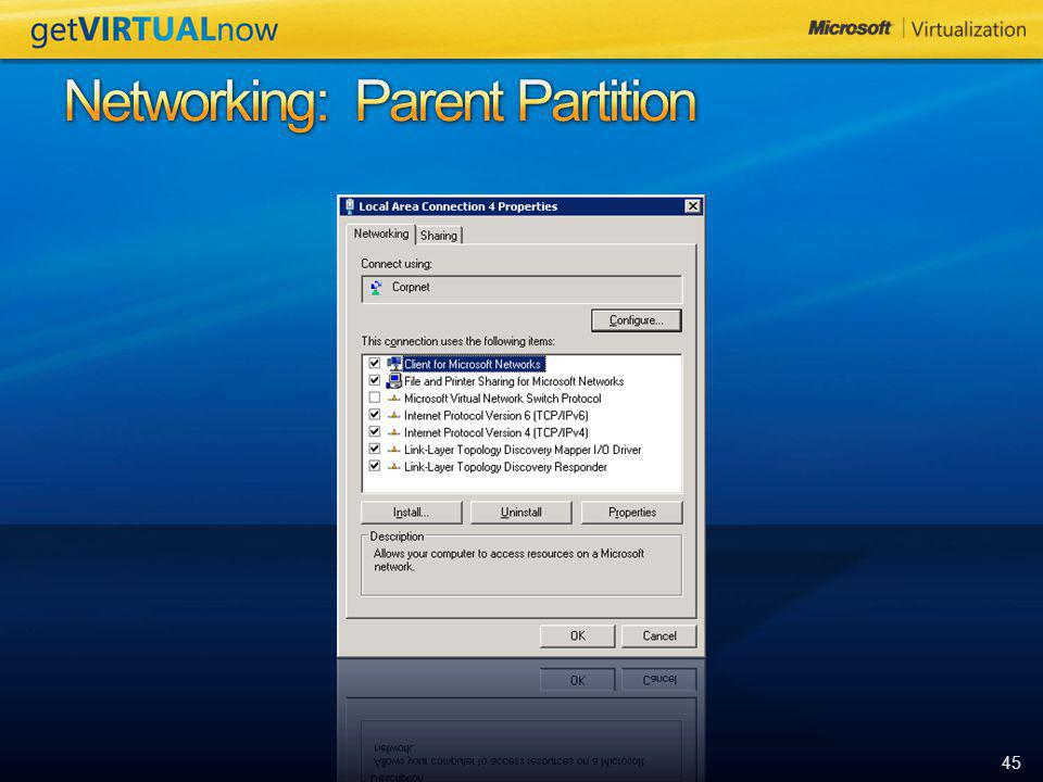 Networking: Parent Partition