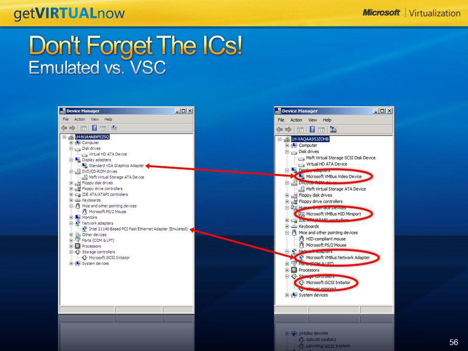 Don t Forget The ICs! Emulated vs. VSC