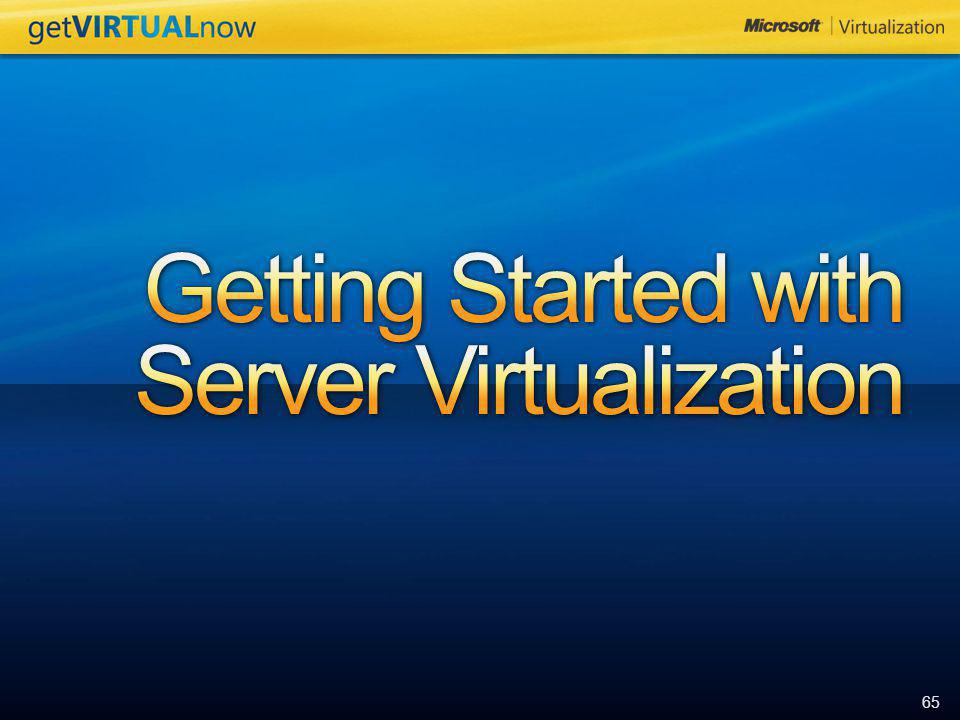 Getting Started with Server Virtualization