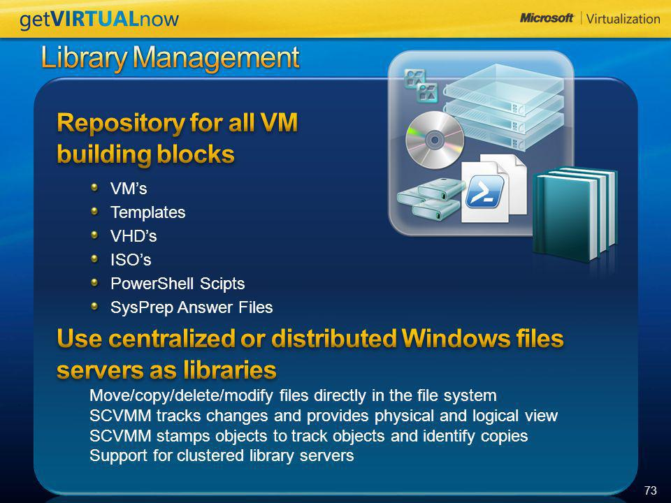 Library Management Repository for all VM building blocks