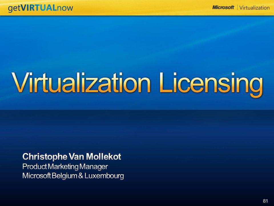 Virtualization Licensing