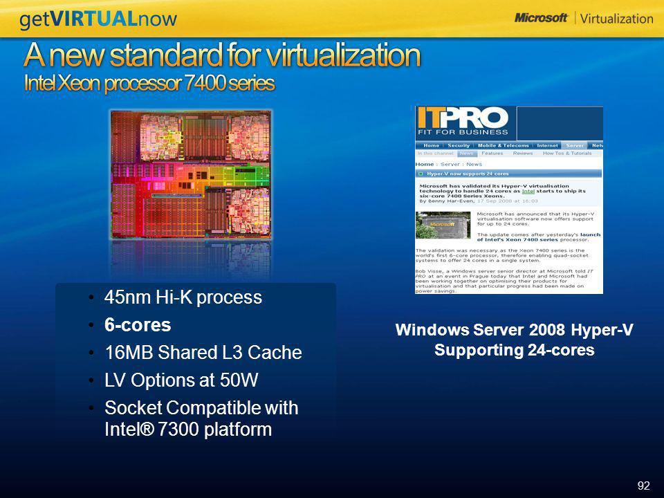 A new standard for virtualization Intel Xeon processor 7400 series