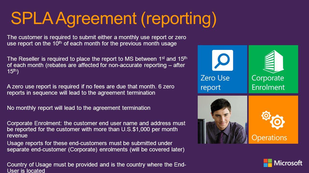 SPLA Agreement (reporting)