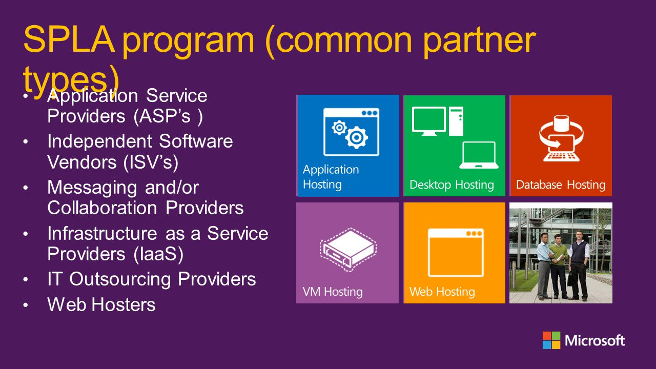 SPLA program (common partner types)