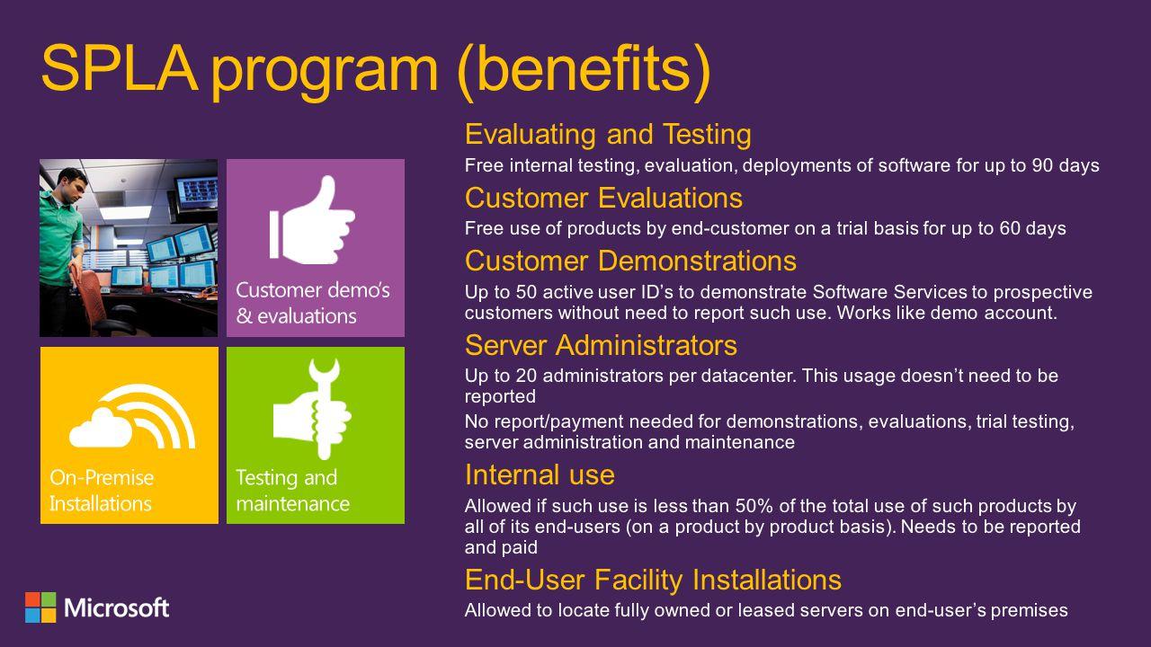 SPLA program (benefits)