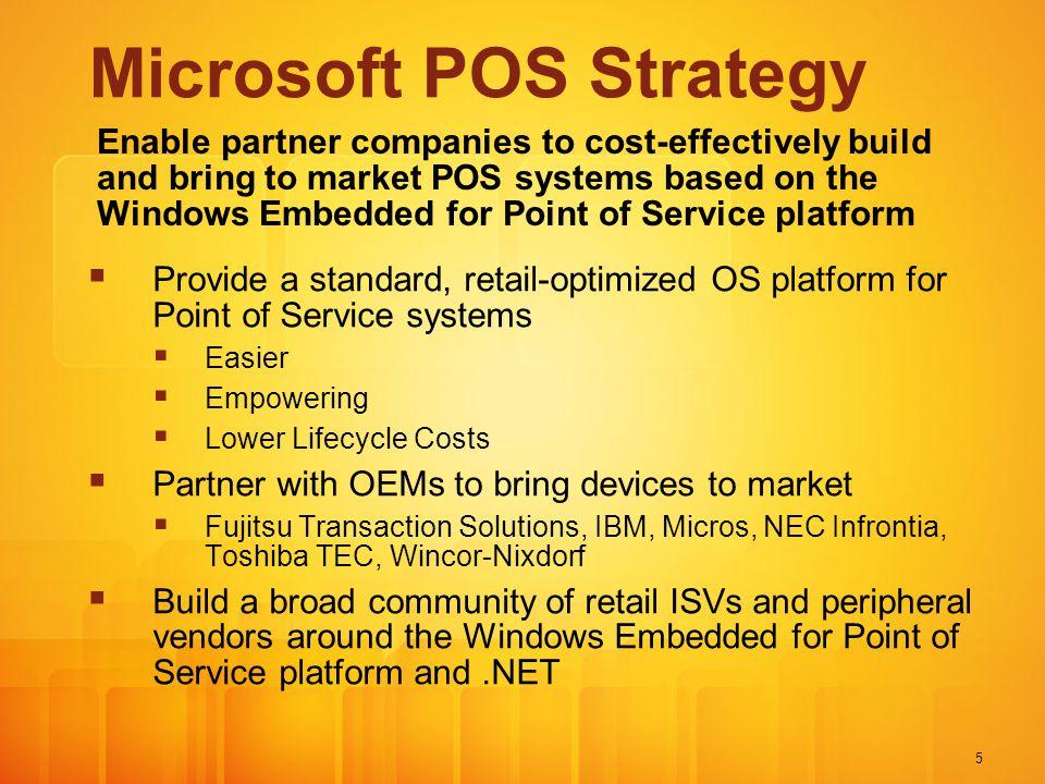 Microsoft POS Strategy