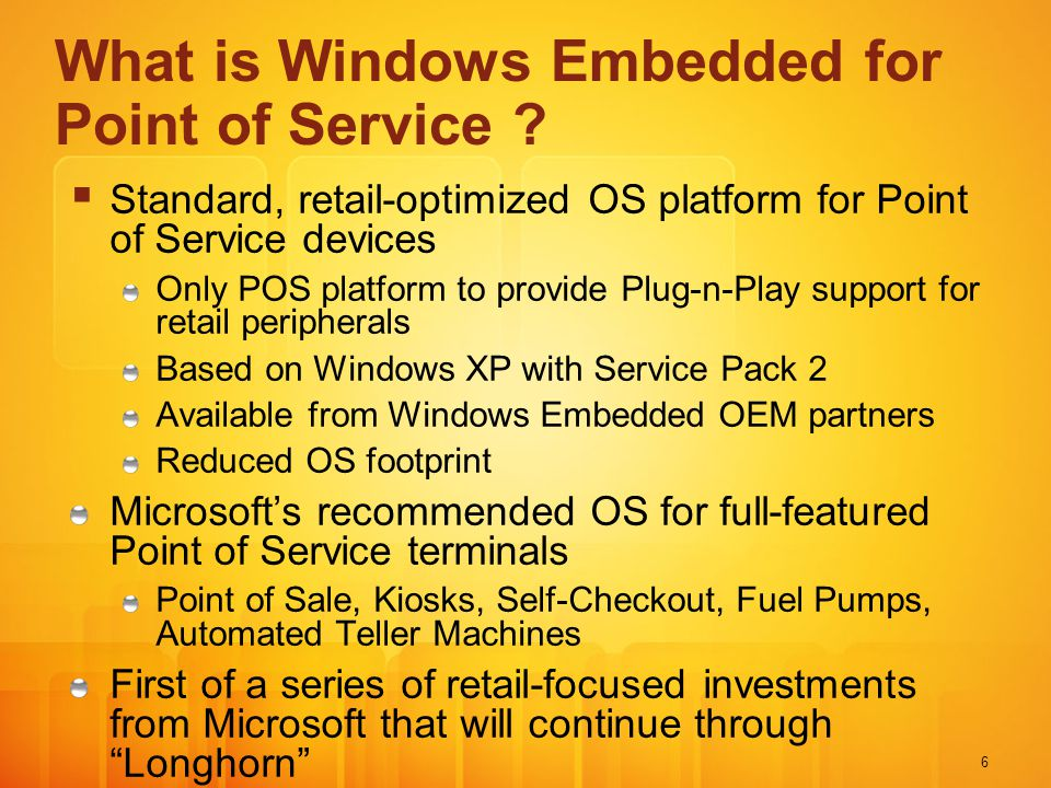 What is Windows Embedded for Point of Service