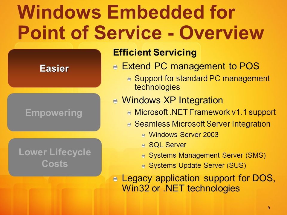 Windows Embedded for Point of Service - Overview