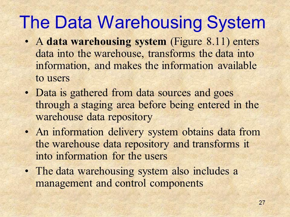 The Data Warehousing System