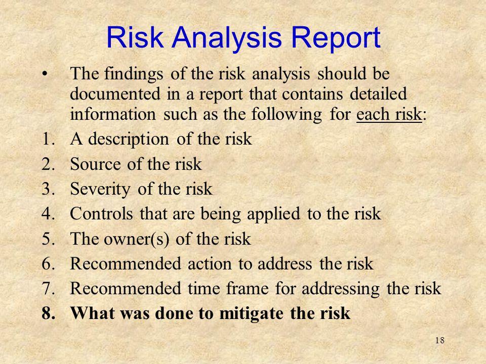Risk Analysis Report