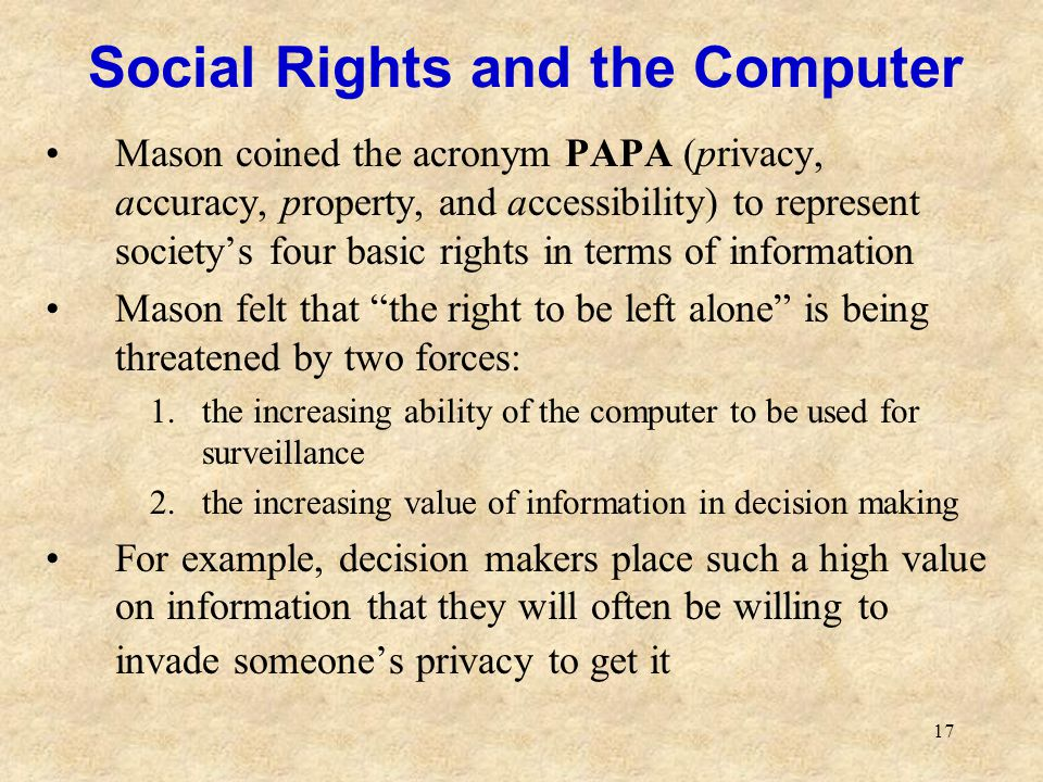 Social Rights and the Computer