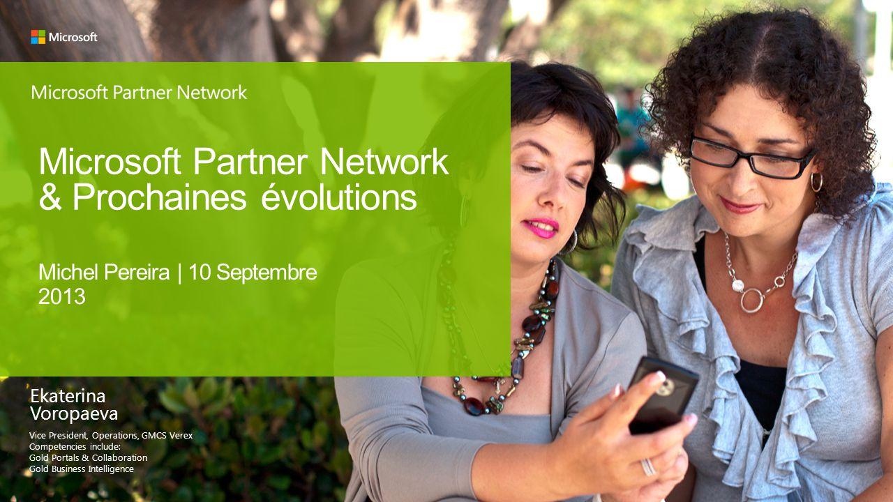 Microsoft Partner Network & Prochaines évolutions