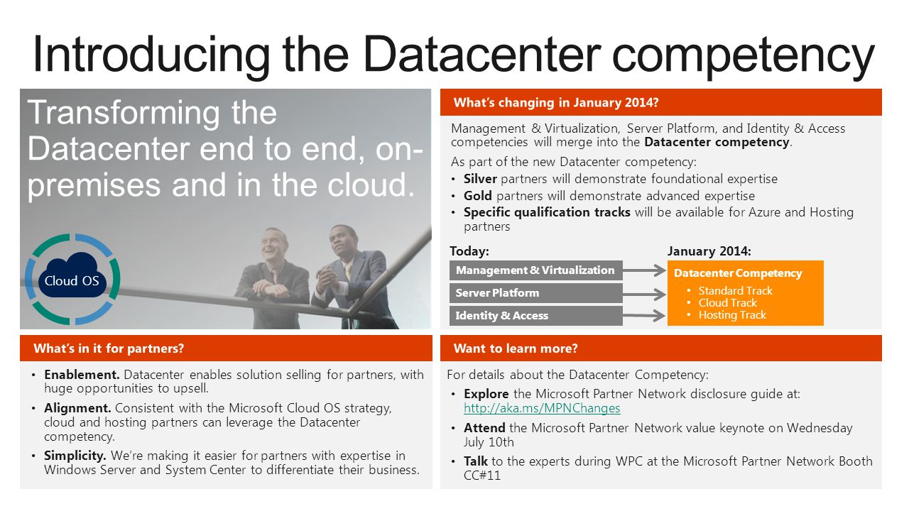Introducing the Datacenter competency