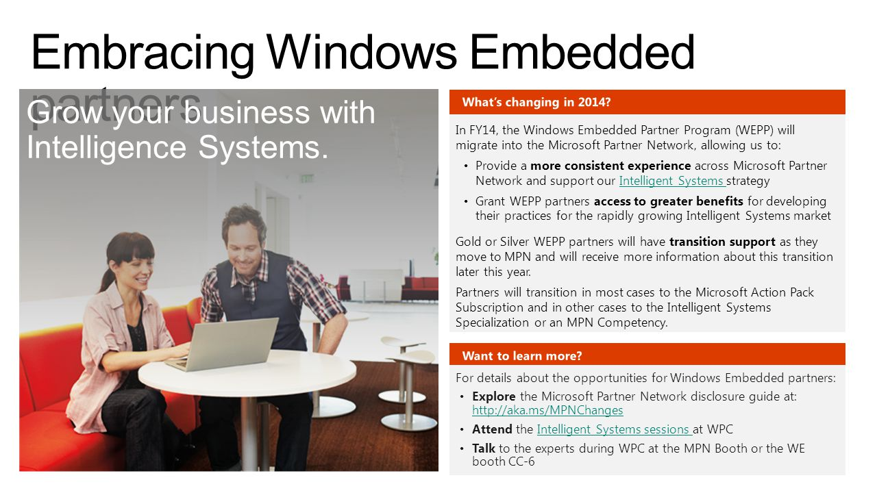 Embracing Windows Embedded partners