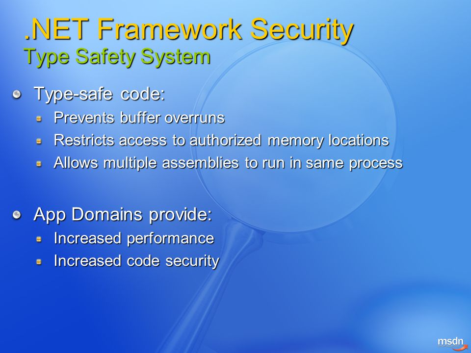 .NET Framework Security Type Safety System