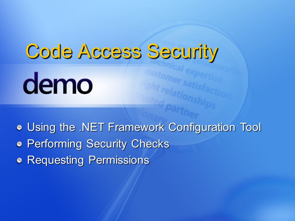 Code Access Security Using the .NET Framework Configuration Tool