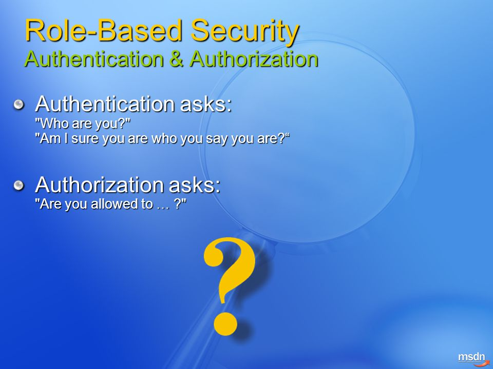 Role-Based Security Authentication & Authorization