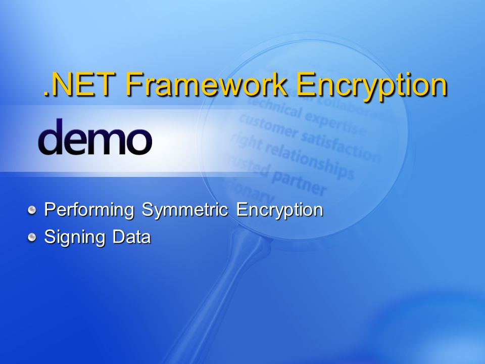 .NET Framework Encryption