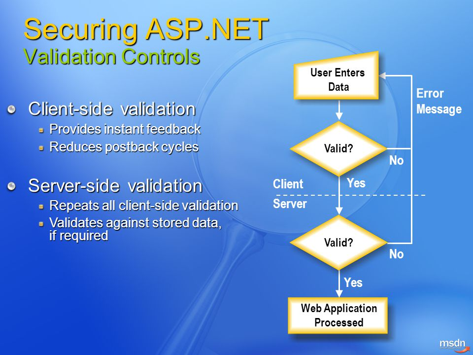 Securing ASP.NET Validation Controls