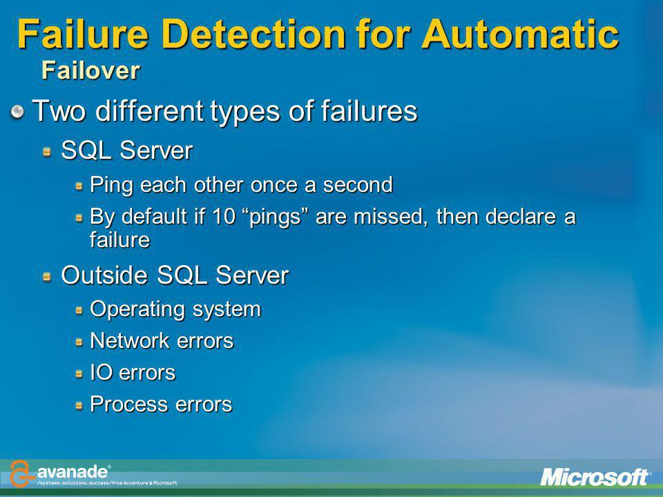 Failure Detection for Automatic Failover