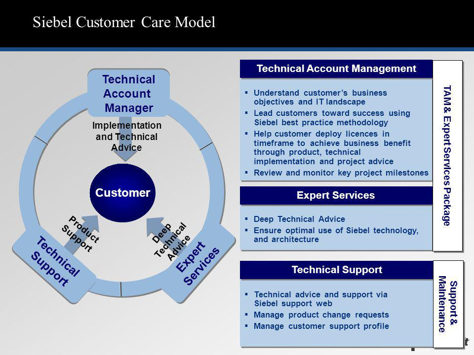 Siebel Customer Care Model
