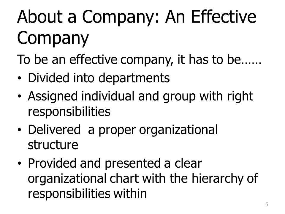 About a Company: An Effective Company