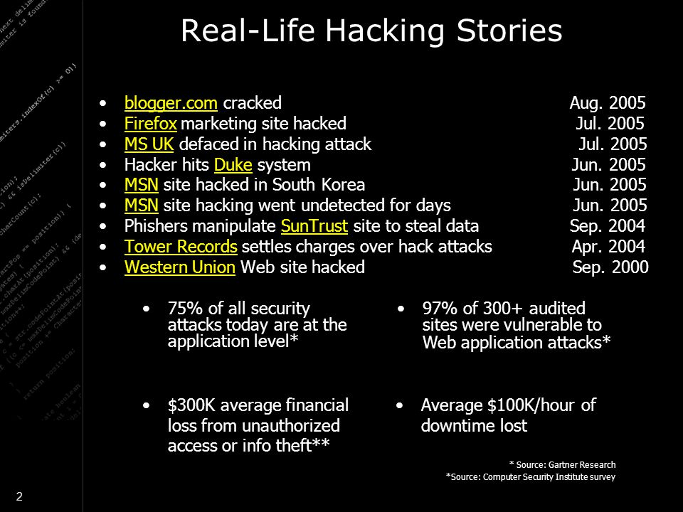 Real-Life Hacking Stories