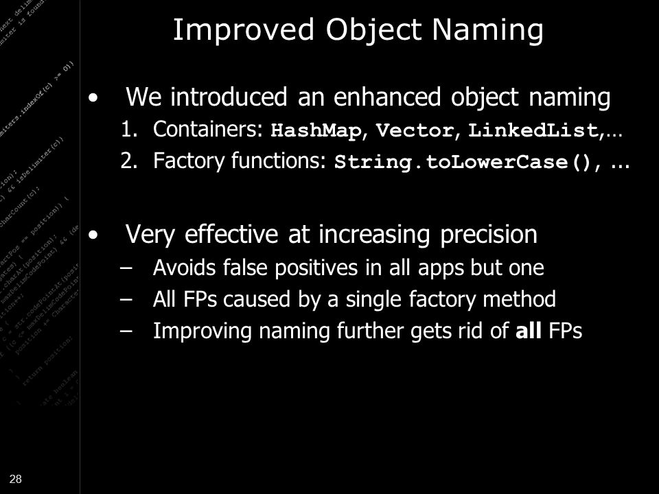Improved Object Naming