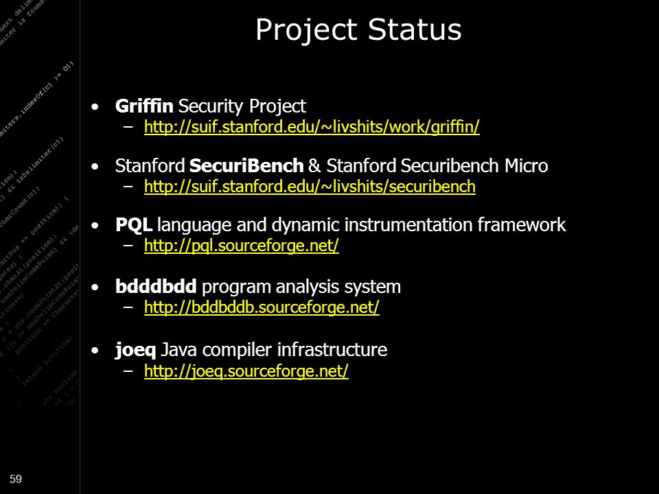 Project Status Griffin Security Project