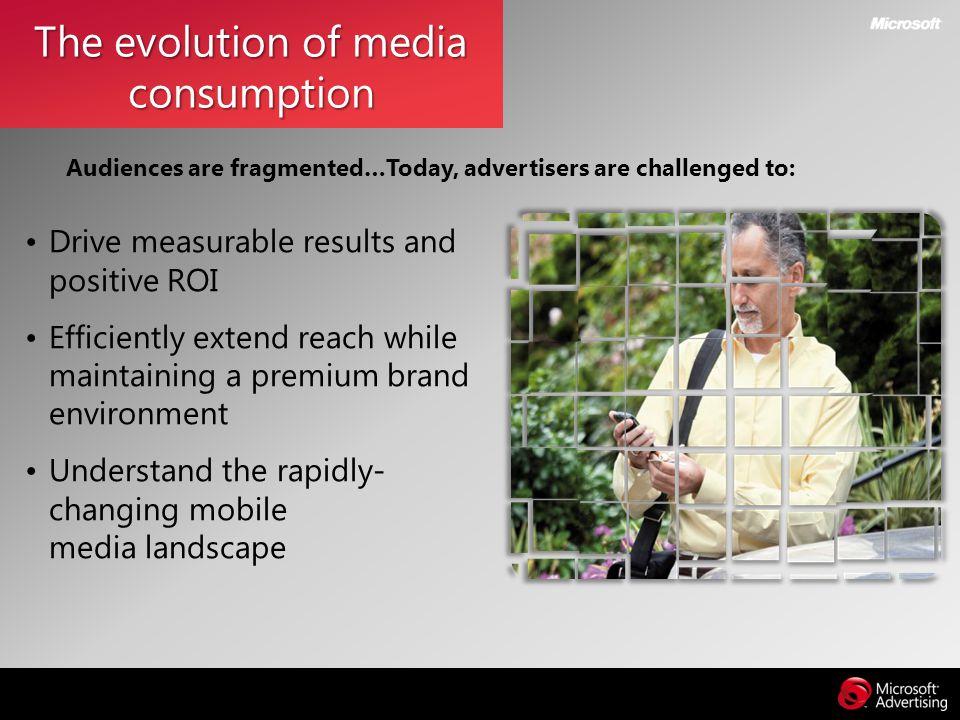 The evolution of media consumption