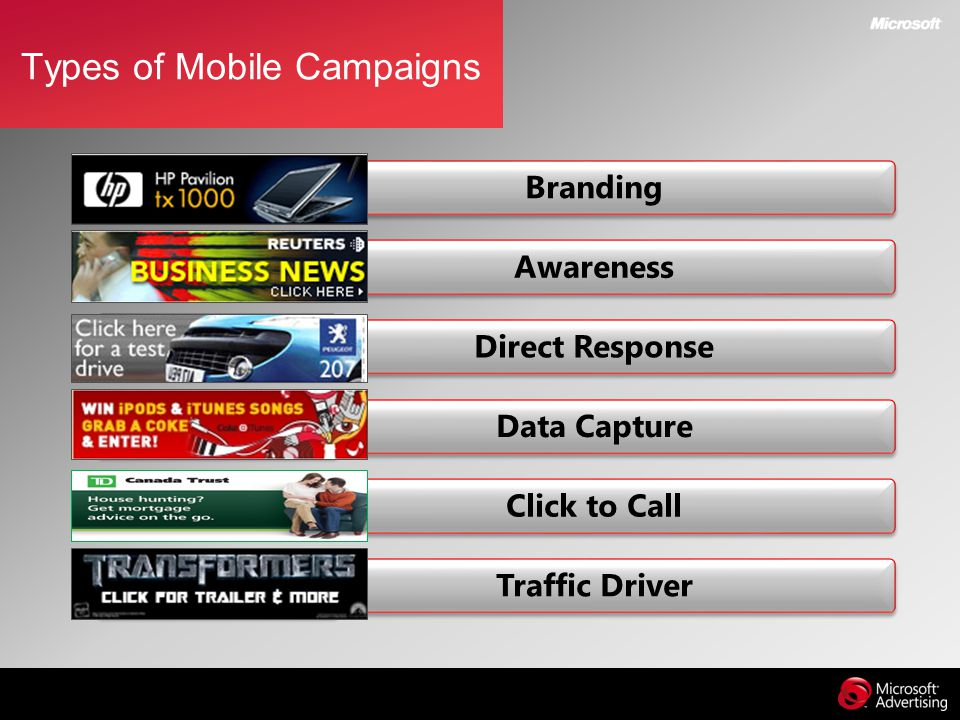 Types of Mobile Campaigns