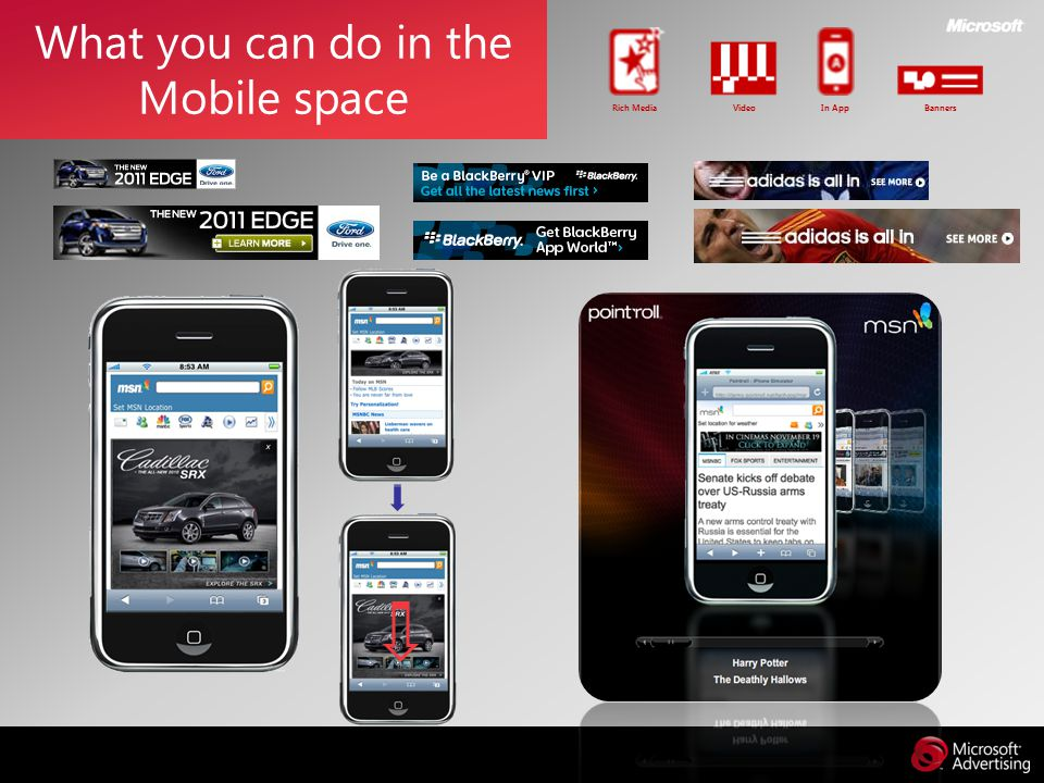 What you can do in the Mobile space