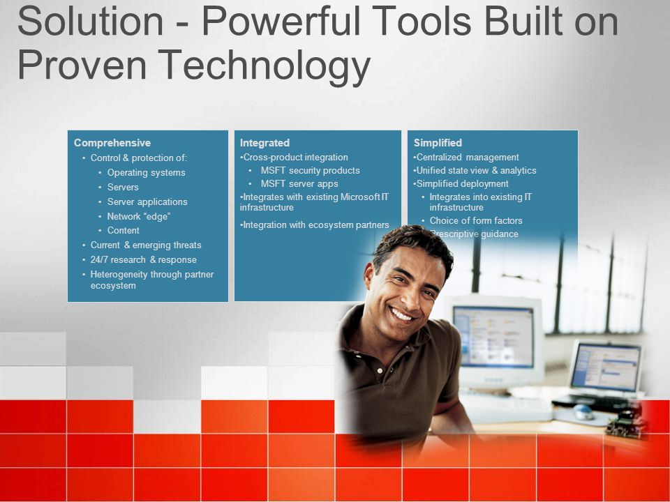 Solution - Powerful Tools Built on Proven Technology