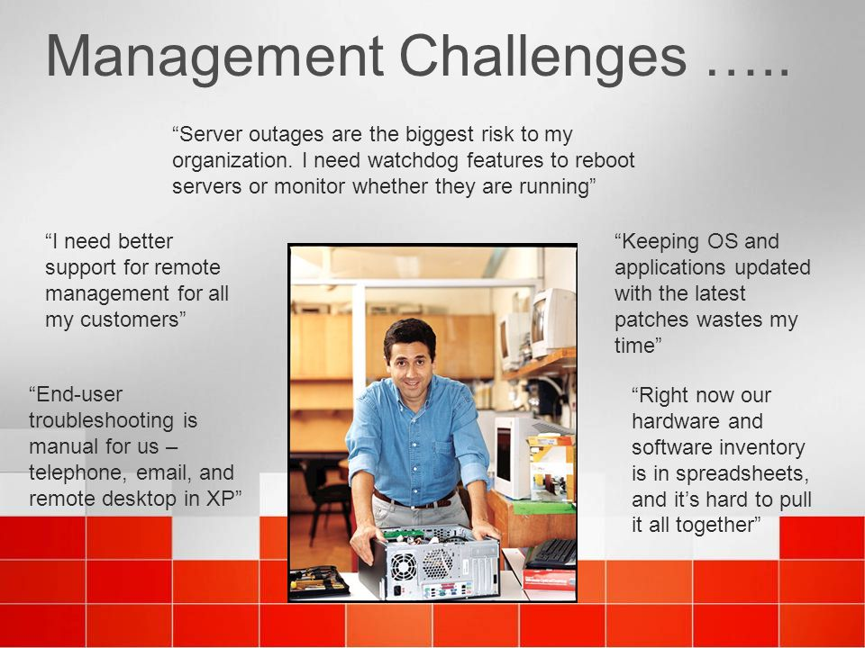 Management Challenges …..