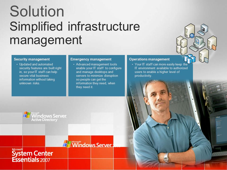 Solution Simplified infrastructure management