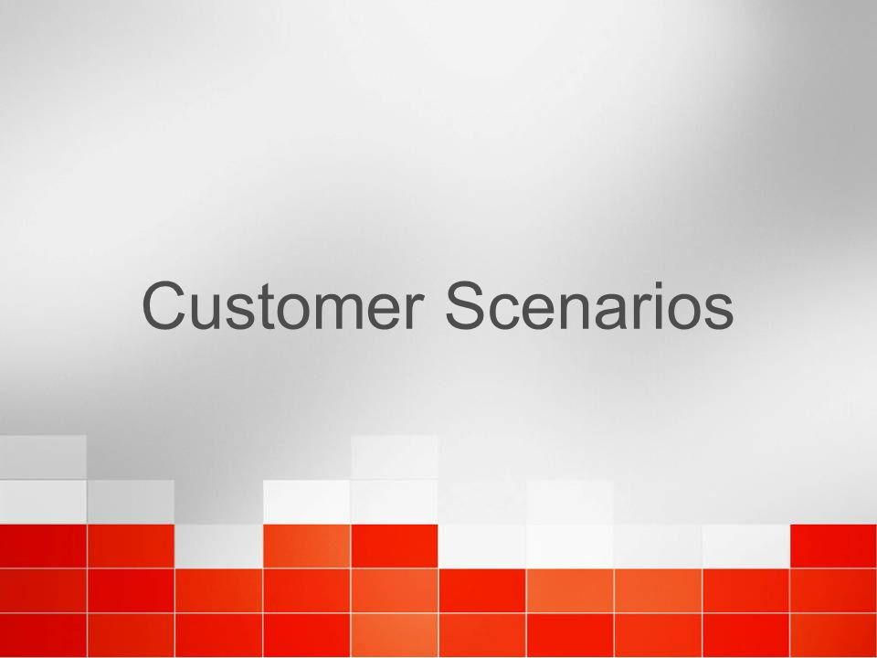 Customer Scenarios 4/6/2017 11:37 AM