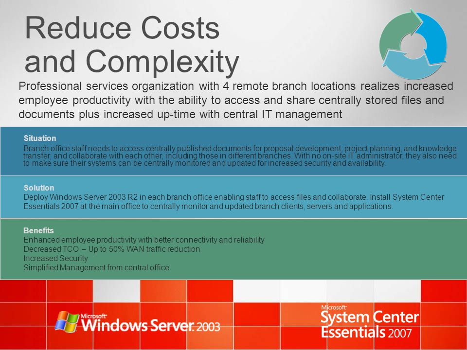 Reduce Costs and Complexity