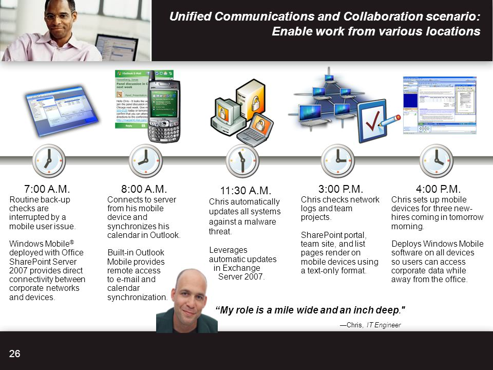 Unified Communications and Collaboration scenario: Enable work from various locations