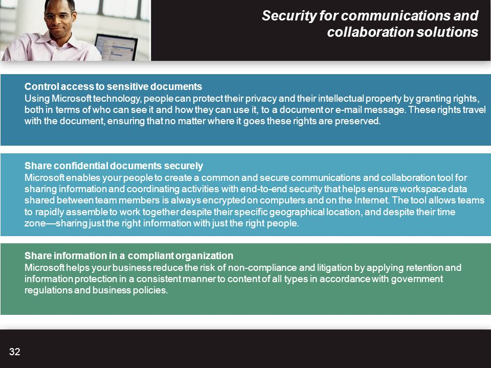 Security for communications and collaboration solutions