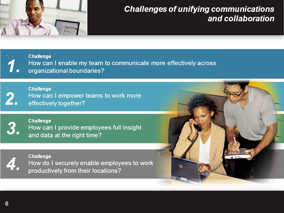 Challenges of unifying communications and collaboration